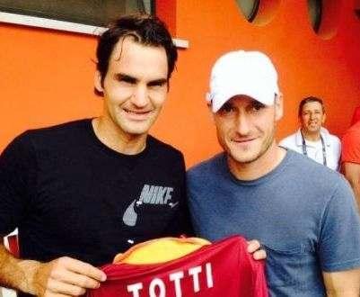 Тотти сыграет в теннис с Федерером