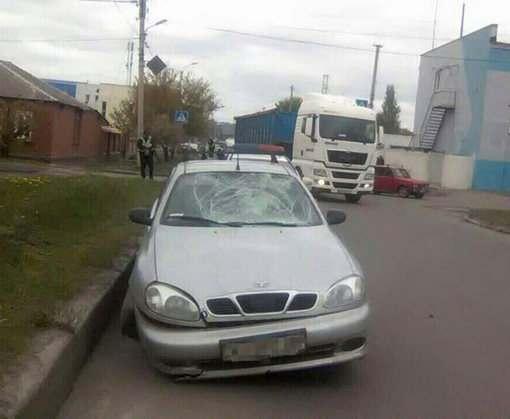 ДТП в Харькове: Lanos сбил женщину на пешеходном переходе