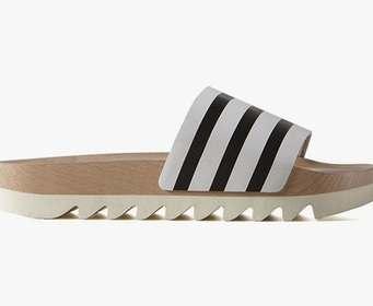 Adidas выпустил деревянные шлепанцы