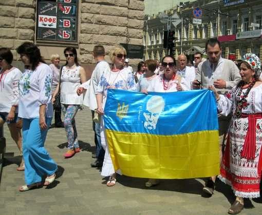 Центр Харькова расцветет украинской вышивкой