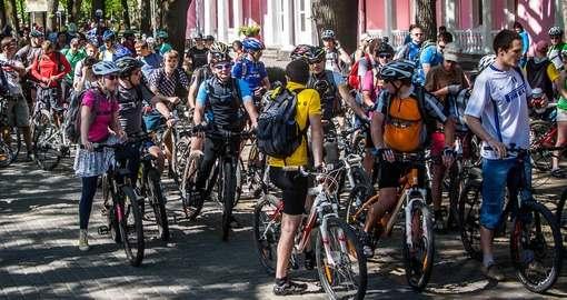 Что будут изображать велосипедисты в Харькове