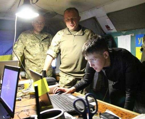 Надежда Савченко побывала в зоне АТО