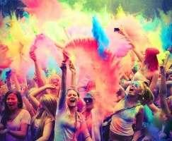 Харьковчан приглашают обсыпаться красками