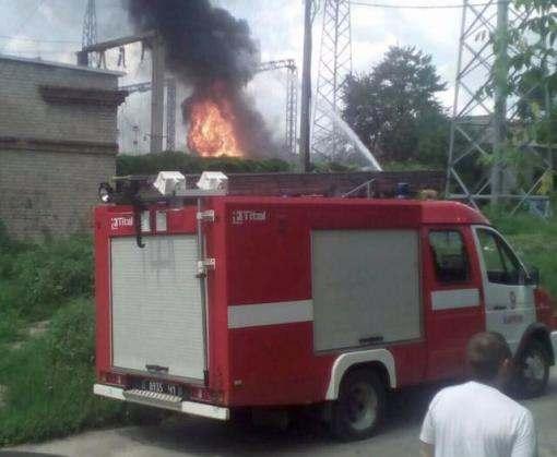 Пожар в Харькове: загорелась электроподстанция (фото)