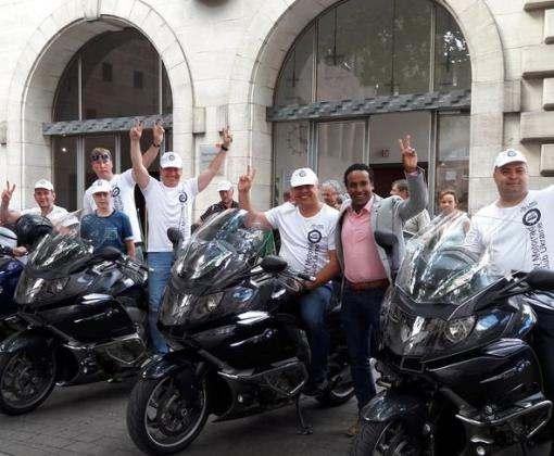 В Харькове ждут немцев на мотоциклах