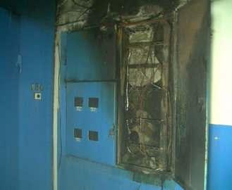 В харьковской многоэтажке загорелись счетчики