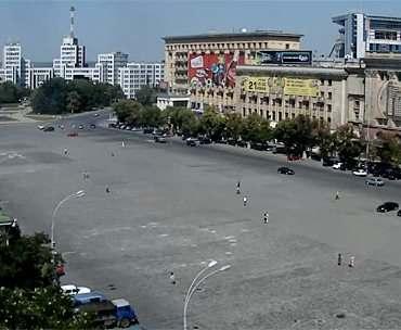 В Харькове на площади Свободы нарисуют карту Украины