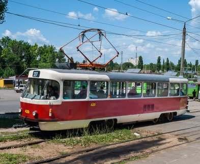 В Харькове трамваи ходят с перебоями