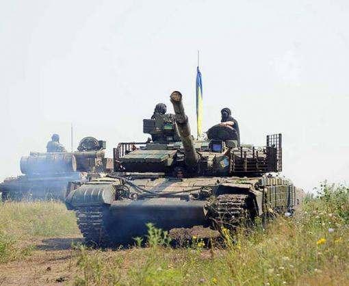 Под Харьковом прошли танковые учения