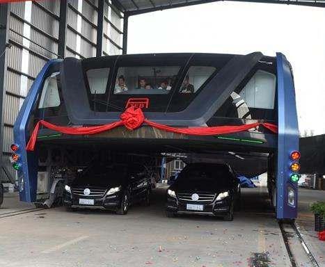 В Китае запустили необычный автобус