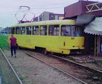 Харьковский трамвай снова сбился с пути