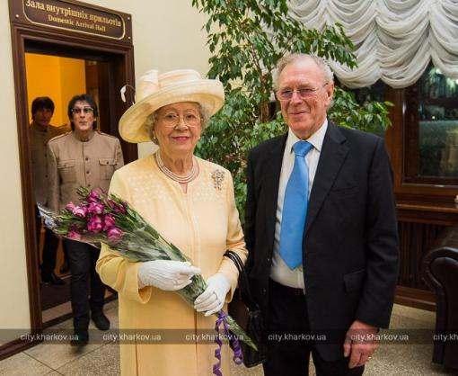 В Харьков прилетела «королева Великобритании»