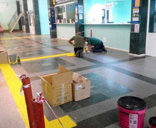 В Харькове на Южном вокзале появится разметка для слабовидящих
