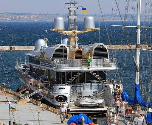 В Одессу зашла бывшая яхта Бориса Березовского