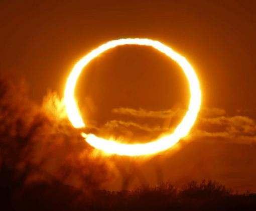 Сегодня произойдет кольцеобразное затмение Солнца