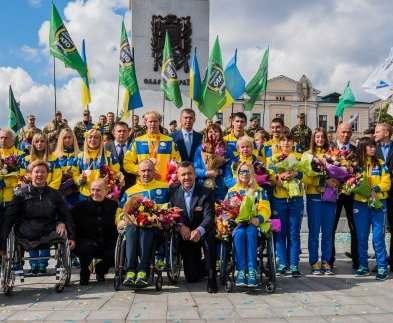 Как в Харькове паралимпийцев встретили: фото