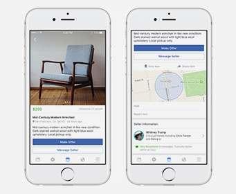 Facebook создал приложение Marketplace