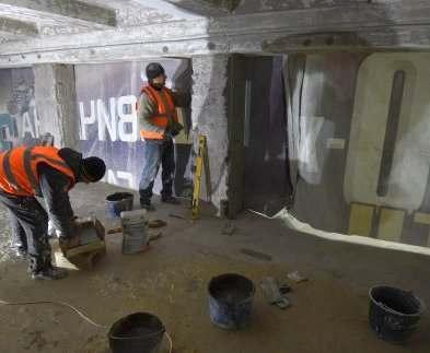 В Харькове ремонтируют переход от станции метро «Тракторный завод»