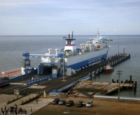 Турецкий порт принял паром из Крыма