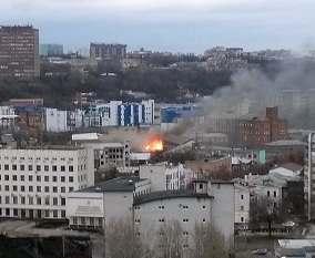 В центре Харькова случился пожар на макаронной фабрике: фото-факт