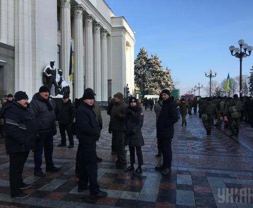 В Киеве проходят акции протеста: из-за угрозы терактов перекрыт центр