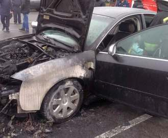 В центре Харькова произошло самовозгорание автомобиля