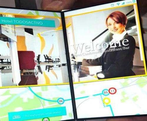 В Японии разработан складной дисплей для смартфонов