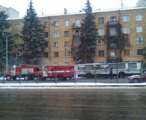 Утренний пожар в Харькове: на проспекте Науки горел троллейбус