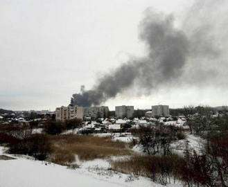 Крупный пожар в Харькове: на Шевченко сгорел бывший кожзавод (фото)