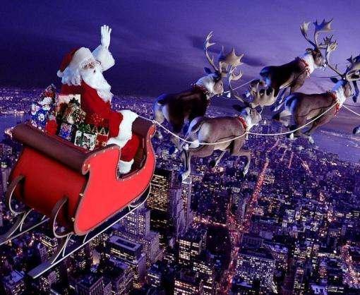 Санта Клаус пролетел над Украиной