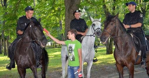 В Харькове бандита задержала полицейская лошадь