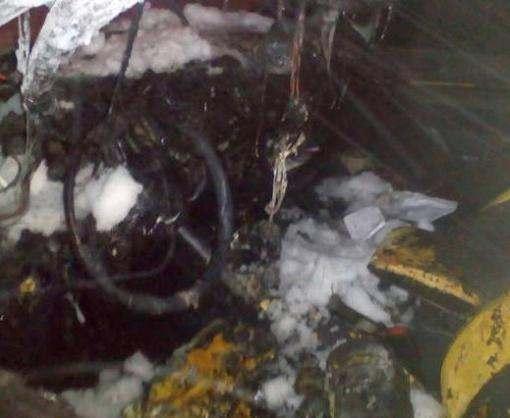 В Харькове сожгли автомобиль