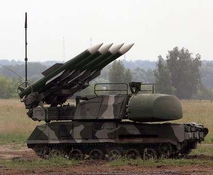 Украина проведет боевые стрельбы близ Крыма из зенитных ракетных комплексов «Бук-М1»