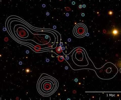 Астрофизики открыли гигантскую радиогалактику