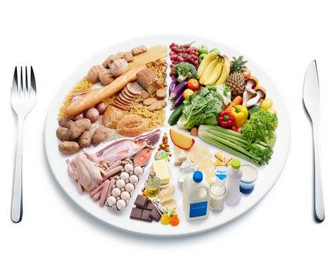 Половину тарелки должны занимать овощи и фрукты: инфографика