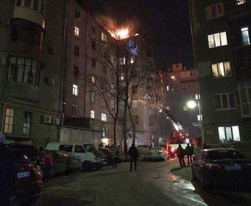 В центре Харькова произошел крупный пожар