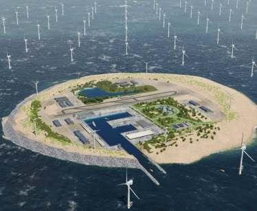 Три страны построят в Северном море искусственный остров с ветряными электростанциями