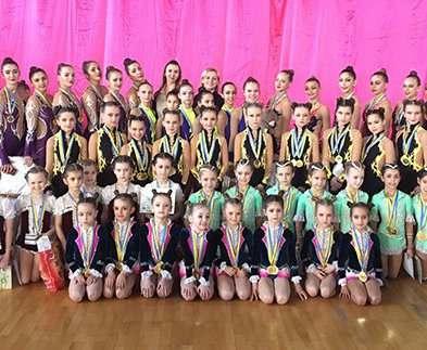 Юные харьковские гимнастки победили на чемпионате Украины