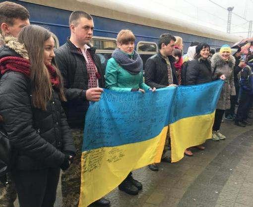 В Харьков прибыл необычный поезд