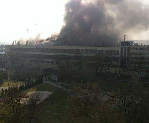 На харьковском заводе возник пожар