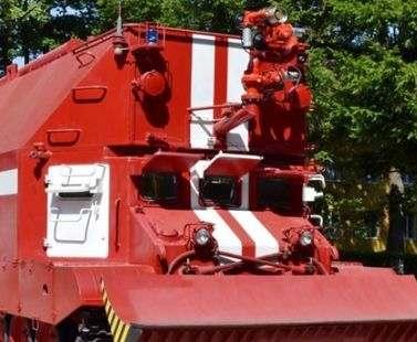 В Украине испытали новый пожарный танк