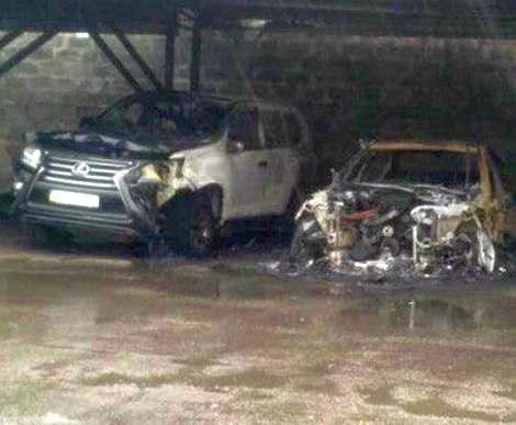 Пожар в Харькове: на Новых домах сгорело шесть машин (фото, видео)