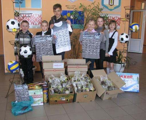 Харьковские таможенники поздравили детей подшефного учреждения с Пасхой