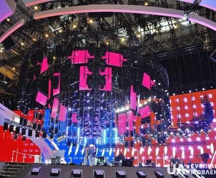 Строительство сцены «Евровидения-2017» в Киеве полностью завершено
