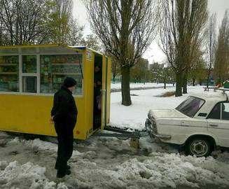 В Харькове обнаружили торговца с колес