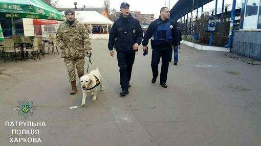 В Харькове патрульные полицейские берут на дежурство собак