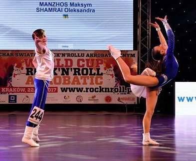 Юные харьковчане победили на Кубке мира по акробатическому рок-н-роллу