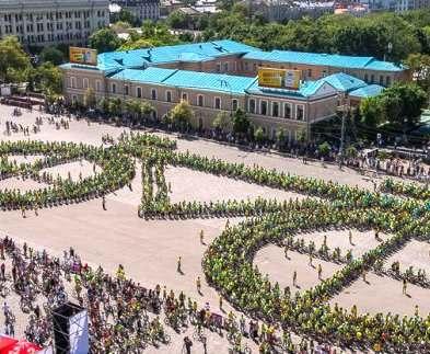 В Харькове создадут самую большую в мире фигуру из велосипедистов