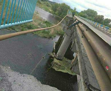 Под Харьковом обрушился мост через Северский Донец