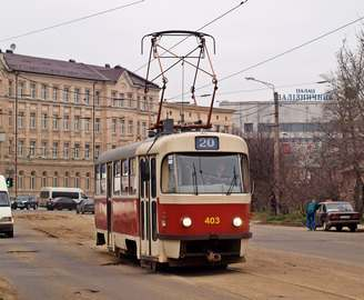 Трамвай №20 убирают до середины лета